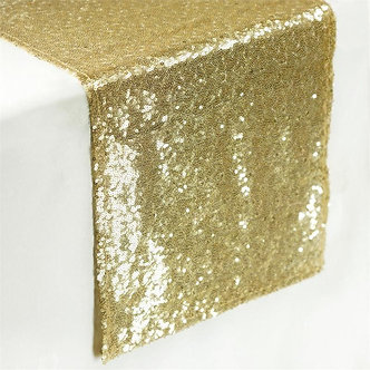 "--- Sequin Shimmer Runners ---12"" x 108"" -(Gold)"