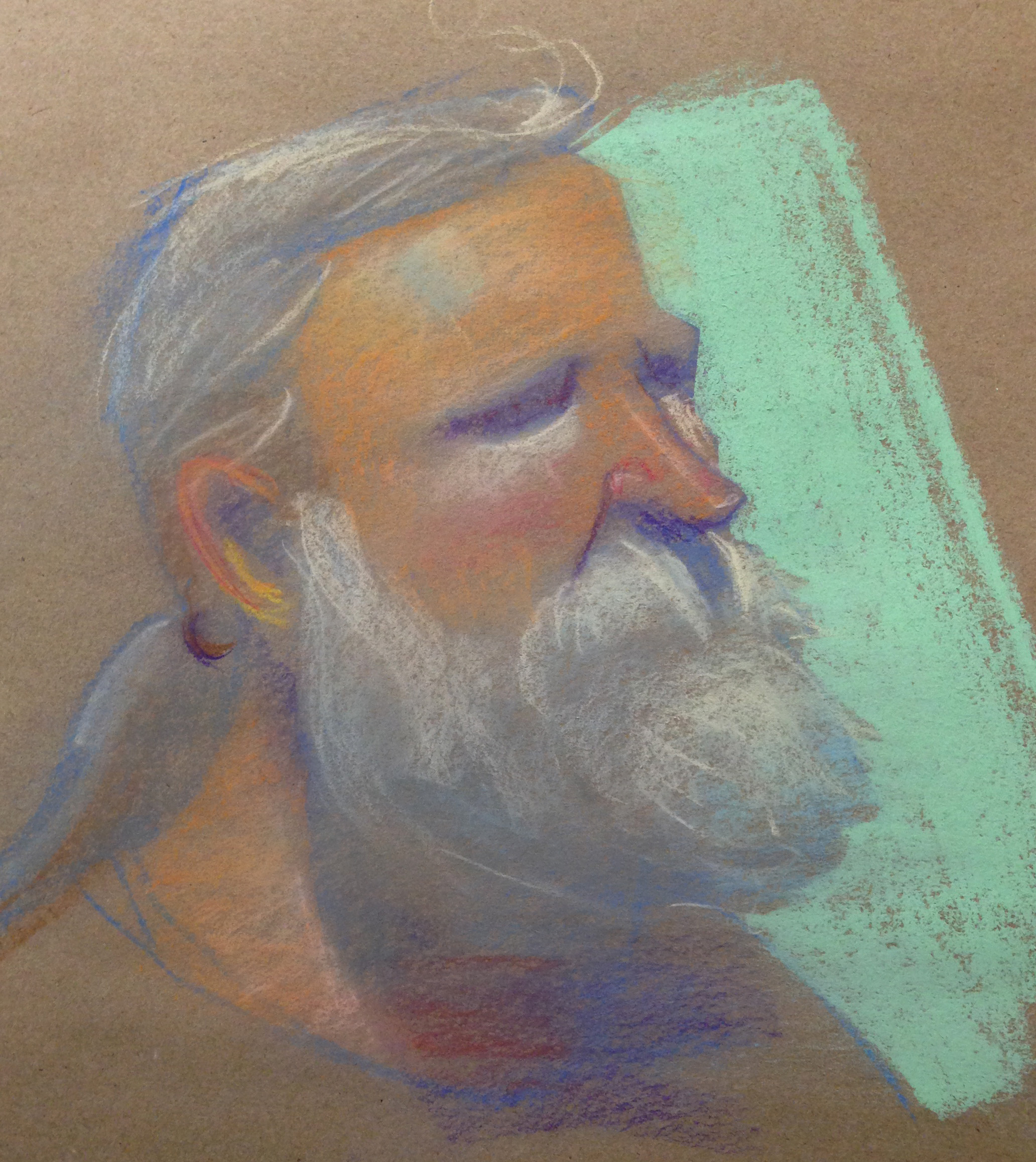 10 min Pastels on Craft Paper