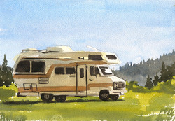 Camper in Watercolors
