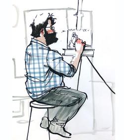 A Dude At Life Drawing