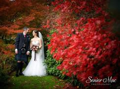 Fairy-tale autum romance wedding