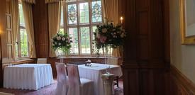 Garden style wedding pedestals