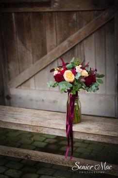 Bright Autum bridemaid bouquet