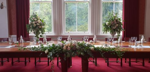 Wedding reception top table RMA Sandhurst
