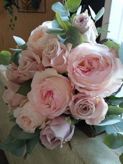 'Kiera' pink garden rose bouquet