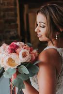 Peach & Coral Sunset designer luxury Bridal bouquet