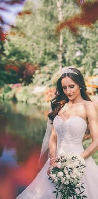 Princess white wedding flower bouquet