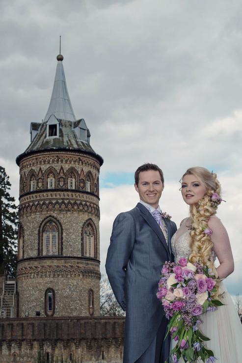 Rapunzel themed wedding flowers horsley towers