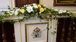 Windsor Guild Hall wedding flower mantel piece