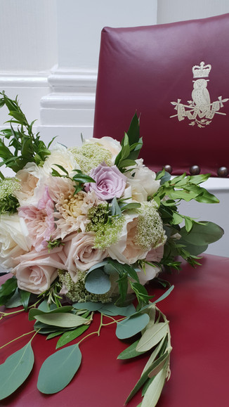 Sandhurst RMA bridal bouquet