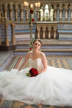 beauty beast Horsley Towers bride