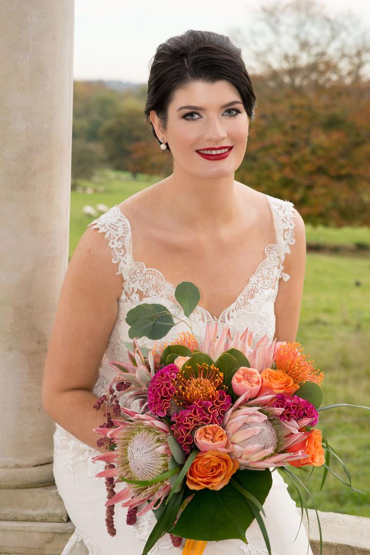 froyle_park_wedding_king protea bridal b