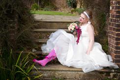 Through the looking glass Alice in Wonderland wedding flowers