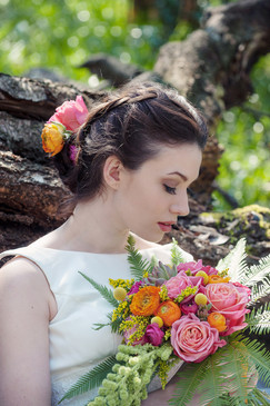 Stop and smell the roses woodland rose bridal bouquet