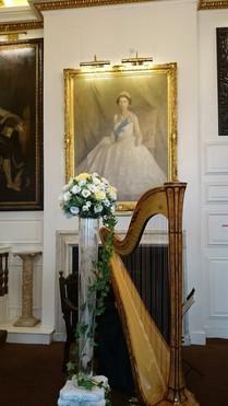 Windsor light and tall flower pedestal