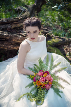 Romance in the air woodland fairy tale bridal flowers