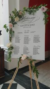 Table plan flowers