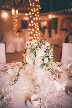 Wedding table flowers urn Evening look