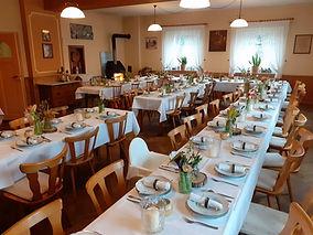 große Veranstaltung im Saal des Gasthaus Wachter in Trosdorf bei Bischberg
