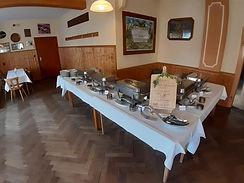 leckeres Büffet im Saal des Gasthaus Wachter Trosdorf bei Bischberg