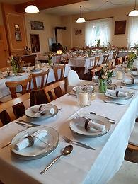gemütliche Feier im Saal des Gasthaus Wachter Trosdorf bei Bischberg