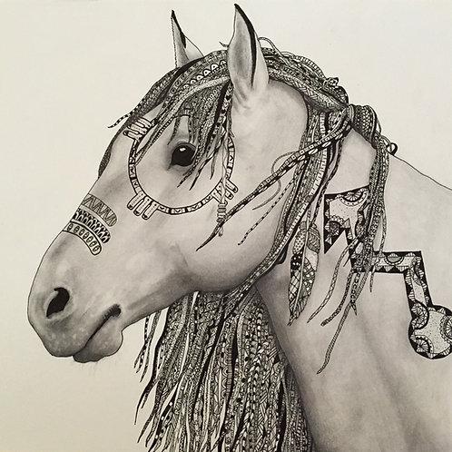 Zentangle Horse Print