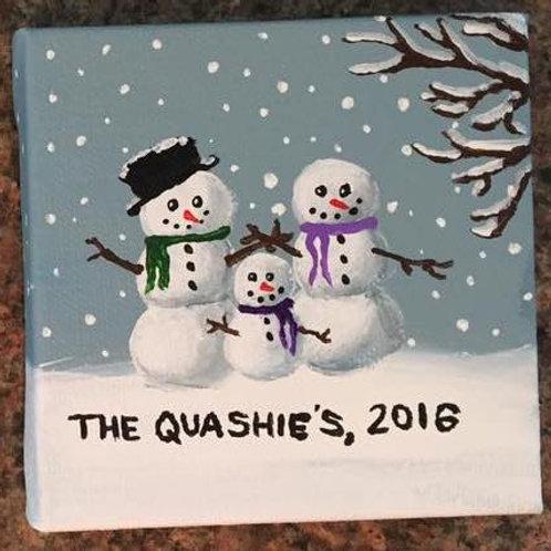 Custom Cute Snowman Painting!