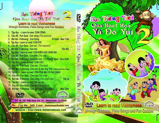 DVD HỌC TIẾNG VIỆT QUA HOẠT HỌA VÀ ĐỐ VUI -CUỐN 2