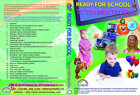 DVD TỰ TIN ĐẾN TRƯỜNG -READY FOR SCHOOL - CUỐN 2