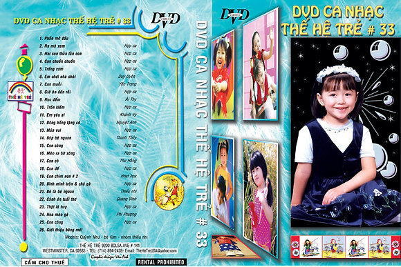DVD Ca Nhac The He Tre # 33