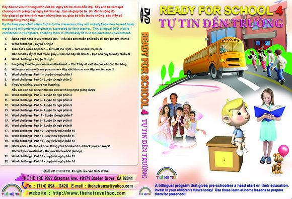 DVD TỰ TIN ĐẾN TRƯỜNG -READY FOR SCHOOL - CUỐN 4