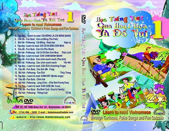 DVD HỌC TIẾNG VIỆT QUA HOẠT HỌA VÀ ĐỐ VUI-CUỐN 1