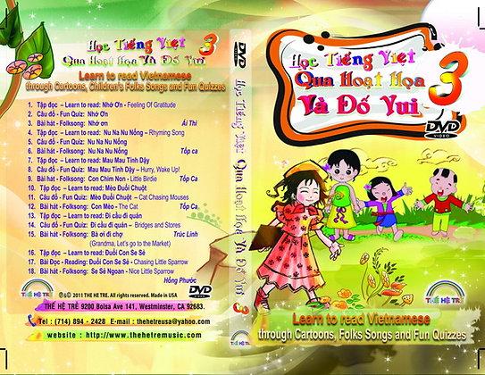 DVD HỌC TIẾNG VIỆT QUA HOẠT HỌA VÀ ĐỐ VUI -CUỐN 3