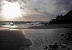 Sunset at Steephill Cove