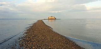 Bembridge Fort at Low Tide