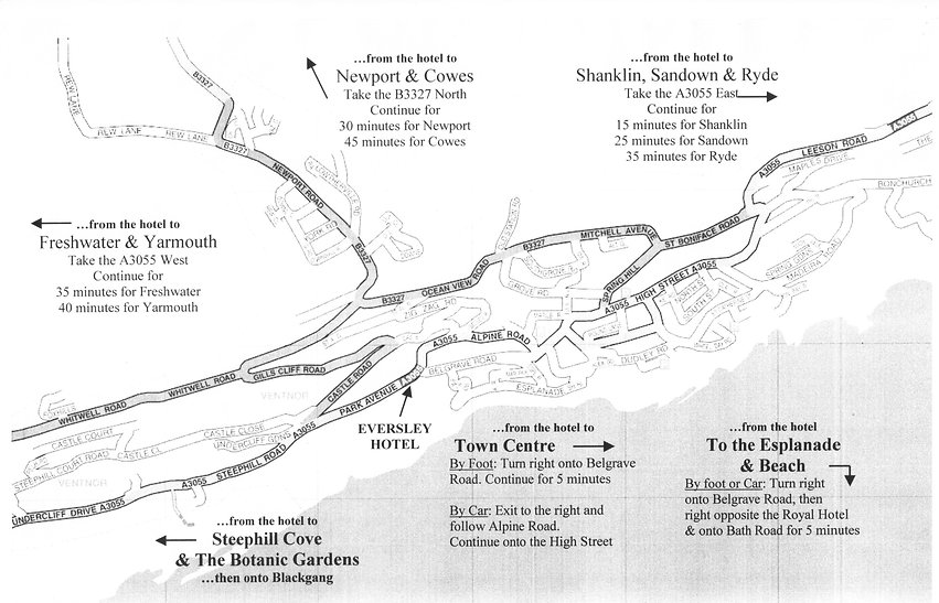 Map of Eversley Hotel Location