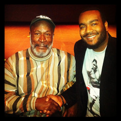 Chad Eric Smith w/ actor John Amos following his Acting Workshop at the Publick Playhouse in Cheverly, MD. (February 16, 2013)
