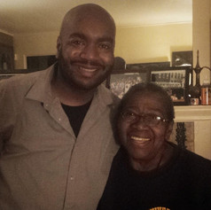 Chad Eric Smith w/ Kuntu Repertory founder Dr. Vernell A. Lillie. (July 21, 2014)