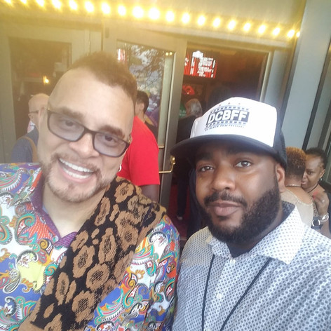 Chad Eric Smith w/ comedian and actor Sinbad at The Miracle Theater for the DC Black Film Festival. (August 18, 2018)