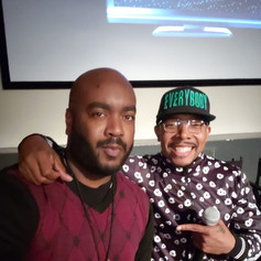 Chad Eric Smith w/ actor and filmmaker Allen Maldonado at the Everybody Digital Film Festival in Brooklyn, NY. (October 20, 2018)
