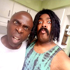 """Chad Eric Smith w/ actor Gary Anthony Williams on the set of """"An Accidental Zombie Named Ted"""" in Ocala, Fl. (May 25, 2017)"""