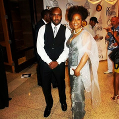 Chad Eric Smith w/ actress and singer T'Keyah Crystal Keymáh at the DC Black Theatre Festival opening Gala. (June 23, 2014)