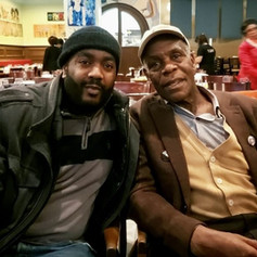 Chad Eric Smith w/ actor, film director, and political activist Danny Glover following a State of the Union Watch Party at Busboys and Poets in Washington, DC. (February 5, 2019)