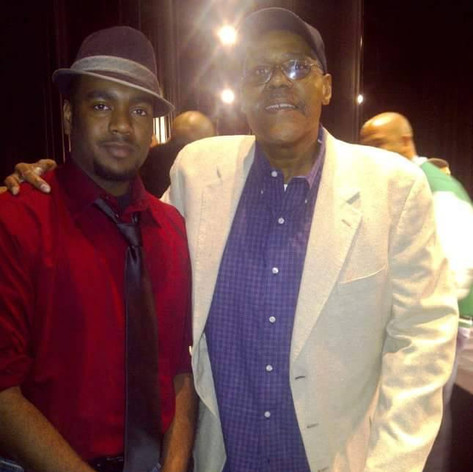 """Chad Eric Smith w/ actor Bill Nunn following a panel discussion of Spike Lee's """"Do the Right Thing"""" at the August Wilson Center in Pittsburgh, PA. (May 27, 2011)"""
