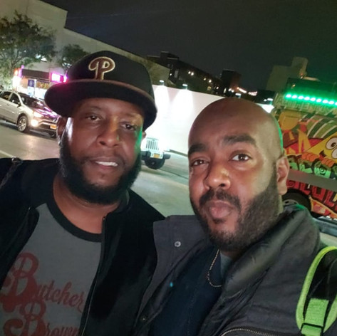 Chad Eric Smith w/ Talib Kweli at the Everybody Digital Film Festival in Brooklyn, NY. (October 19, 2018)