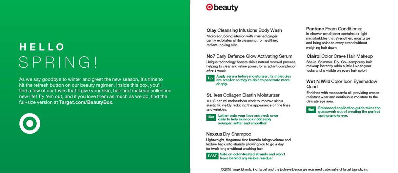 Target Beauty Box | blissandrello