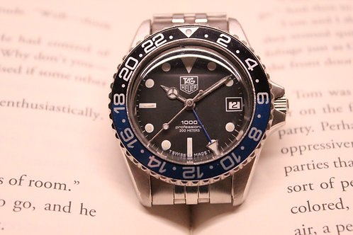 "Tag Heuer 1000 ""Batman"" GMT Automatic Calibre 7 With Original Jubilee Bracelet"
