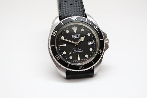Heuer 1000 980.006 First Execution With Uncle Seiko Rubber Tropic