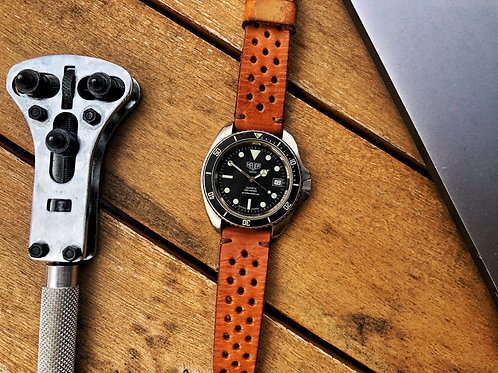 """Heuer 1000 980.006L with """"theLeatherStrap"""" Rallye"""