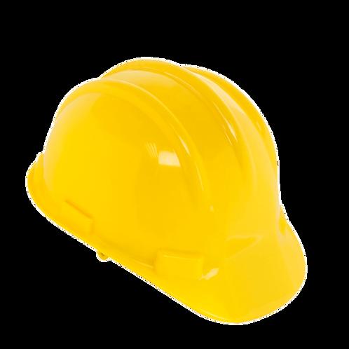 Casco amarillo PVC
